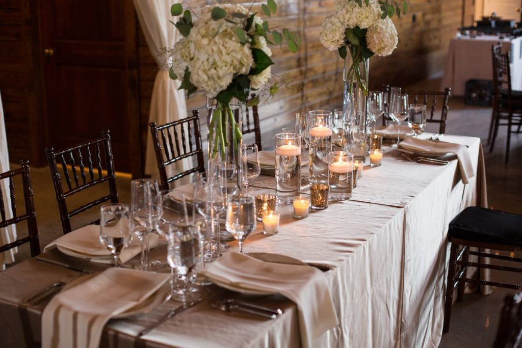 Table Setting at the Event Barn