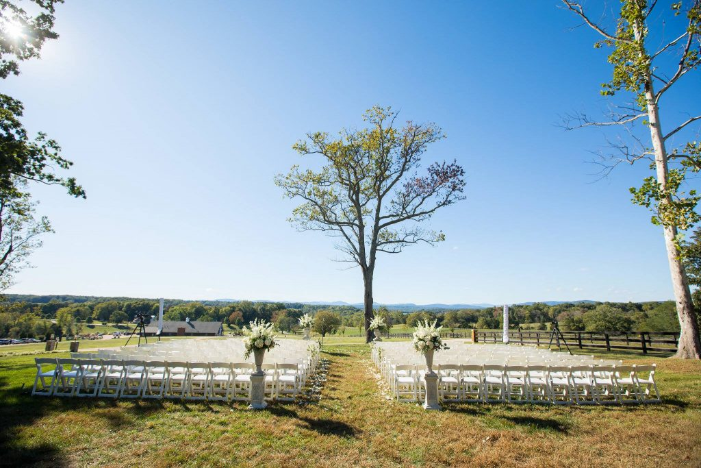 Outdoor ceremony location for The Lodge