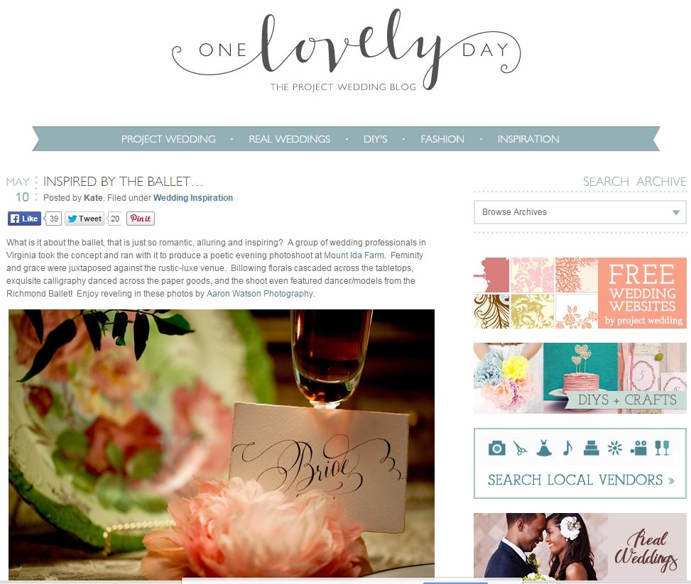One Lovely Day Wedding Blog