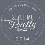 As Featured on Style Me Pretty 2014 badge