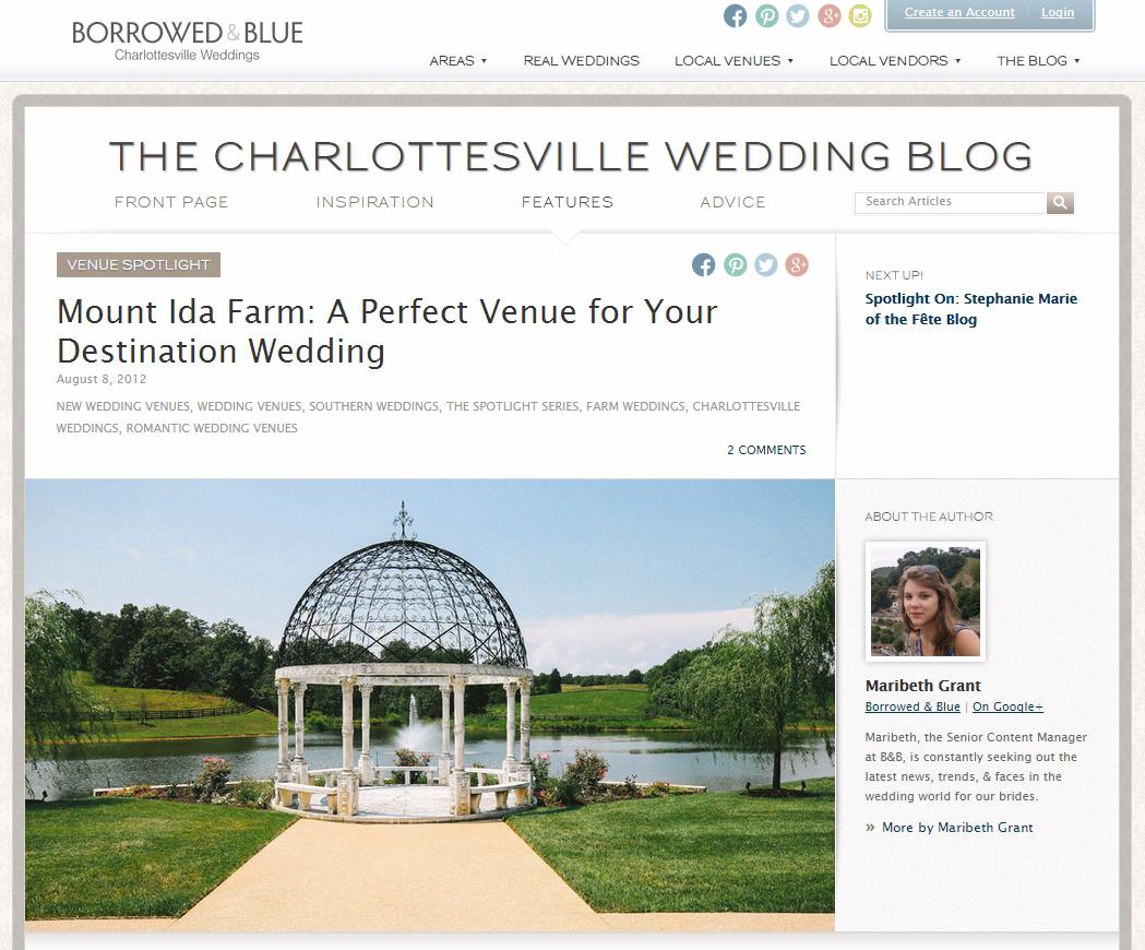 Cville Wedding Blog