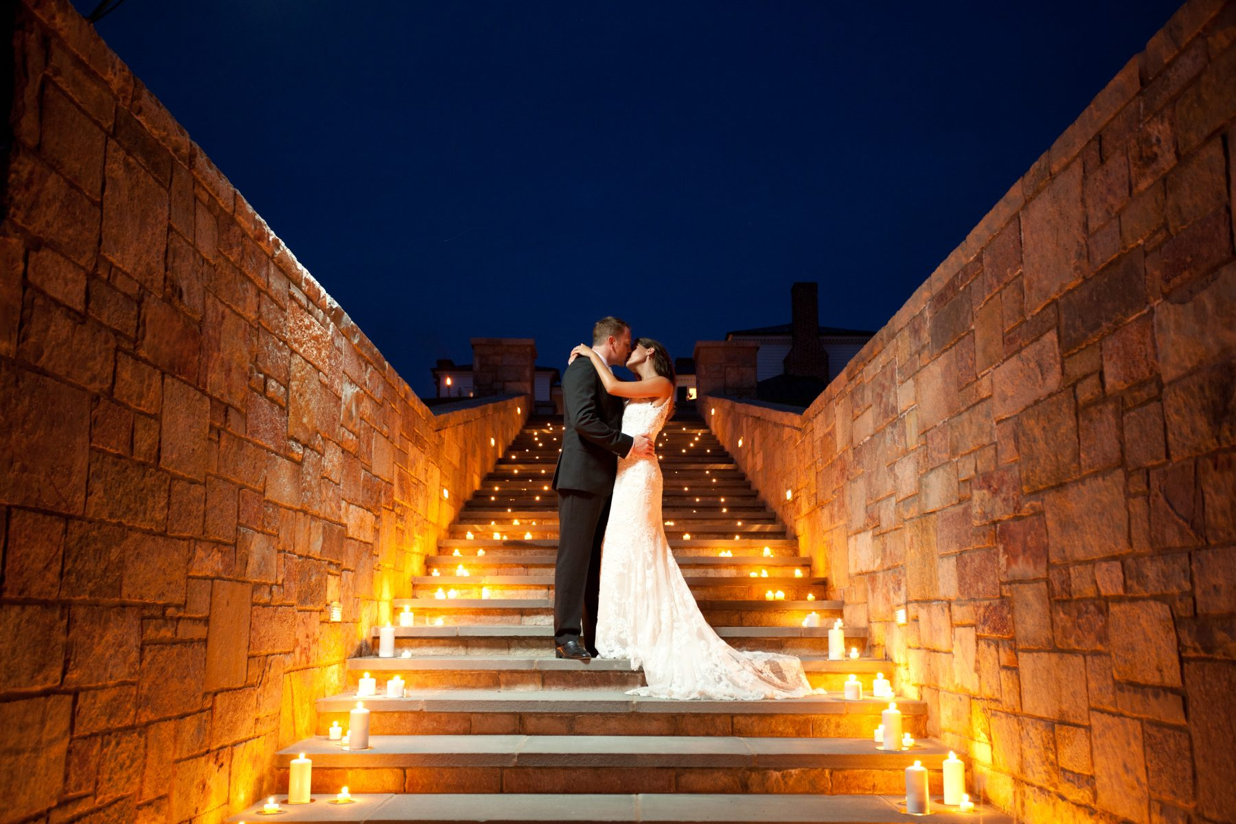 Weddings with Candles, Stone Stairs, Mount Ida Farm and Vineyard
