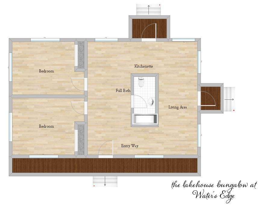 The Lakehouse and Bungalow Floor Plan