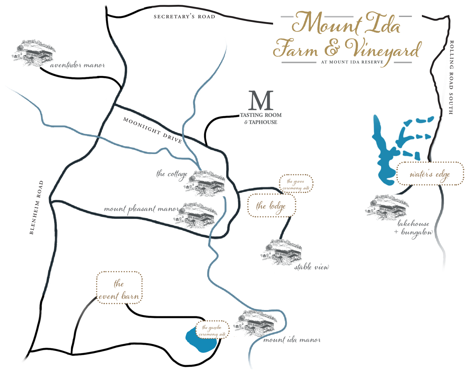 Mount Ida Farm & Vineyard map